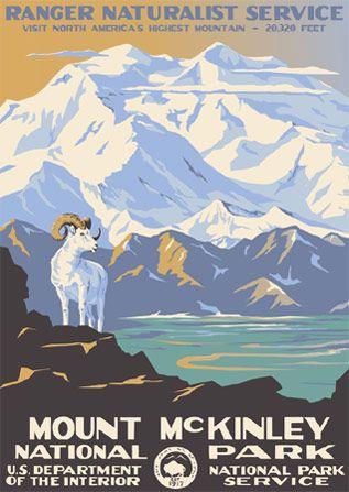 Mount McKinley travel poster