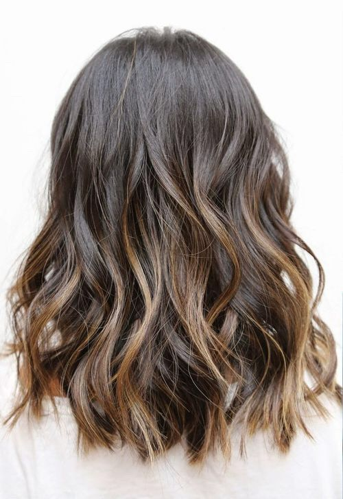 Medium brown wavy hair
