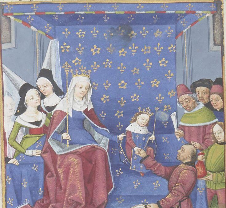 Prince héritier de Dagobert. Les grandes Chroniques de France.