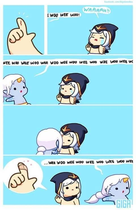 Lmao this is so cute omg <3 soraka league of legends comic