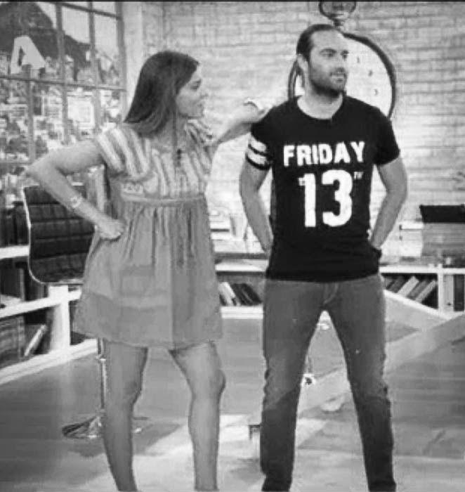 Kostas Fragolias wearing πλAy  #πλAy #play #playshirts #tshirt #tee #kostas #fragolias #friday #13th #jason #printed