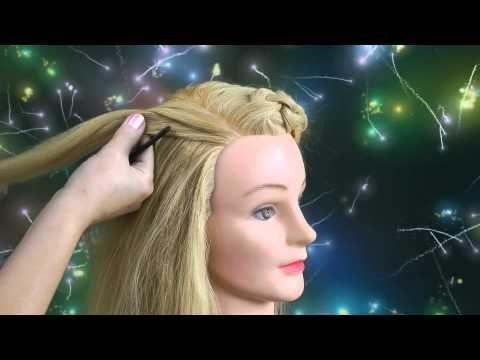 Прически с плетением волос от Ольги Харитоновой. - YouTube