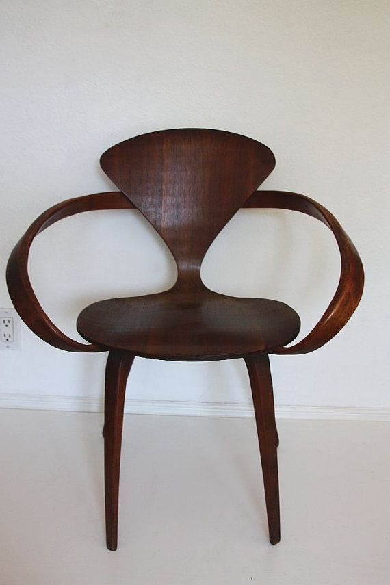 midcentury cherner pretzel chair by owsupply on etsy
