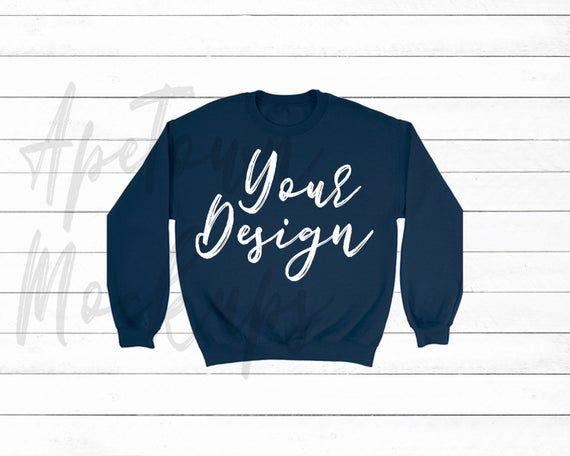 Download Download Free Gildan 18000 Blank Sweat Shirt Mock Up Navy Blue Psd Free Psd Mockups Shirt Mockup Clothing Mockup Free Packaging Mockup