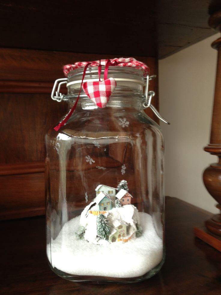 Paesaggio invernale nel vaso