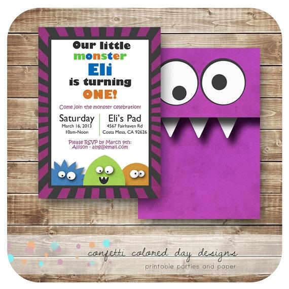 Monster invitation idea