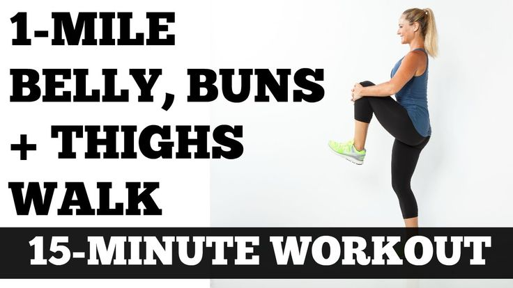 Walk at Home Low Impact Full Length Workout: 1 Mile Belly Buns and Thigh...