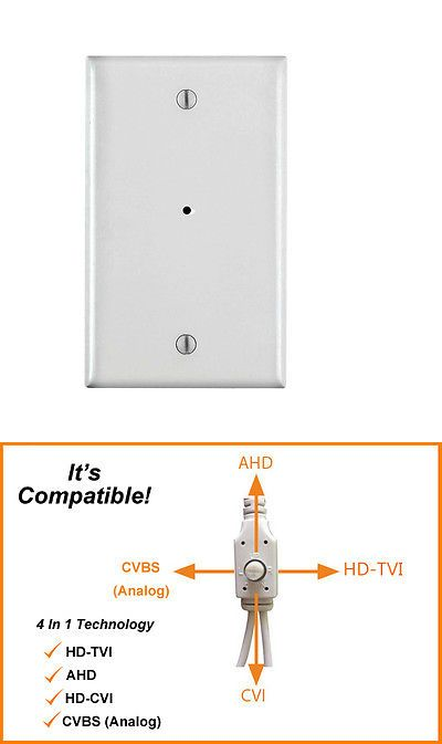 Surveillance Accessories: Covert Hd 1080P Wall Plate Hidden Security Camera, 4 In 1, Tvi, Ahd, Cvi, Cvbs -> BUY IT NOW ONLY: $89 on eBay!