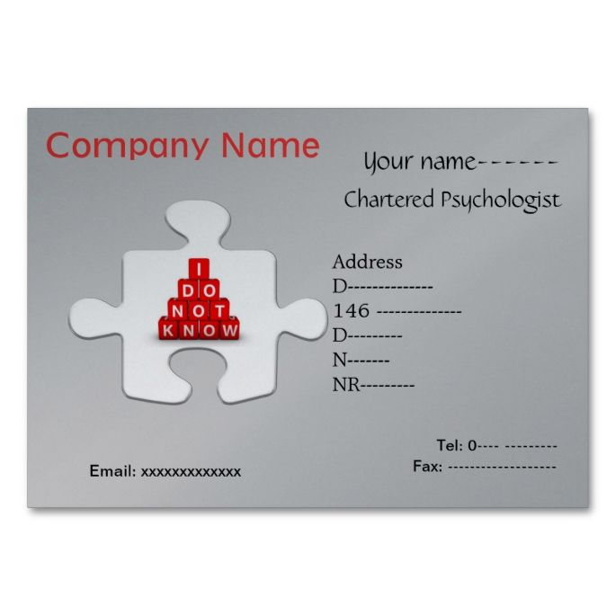 Well-liked 2138 best Psychology Psychologist Business Cards images on  IO84
