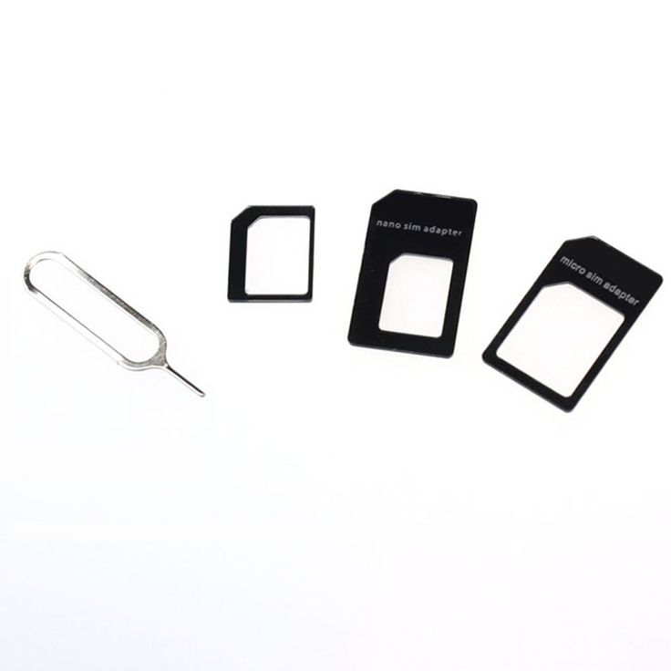 4 in 1 With Retail Package 2016 Nano SIM Card Adapter Convert Nano SIM Card to Micro Standard Adapter For iPhone 5/5s/6/6s#WGEW