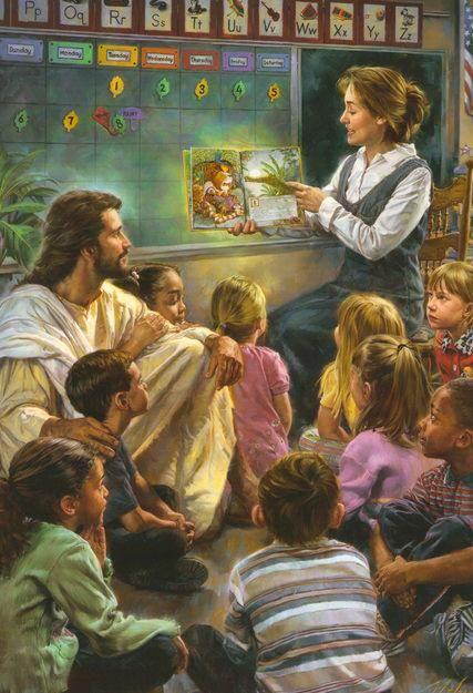 Jesús escuchando con los niños .... Feliz sábado =