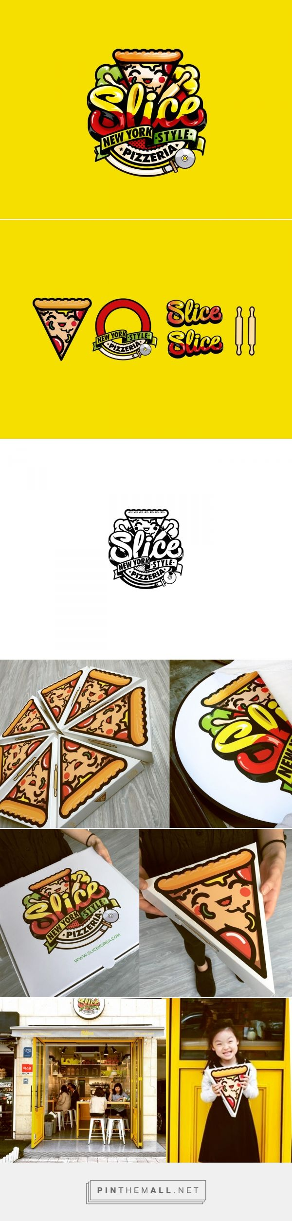 Brand slice pizzeria korea by Chocotoy.