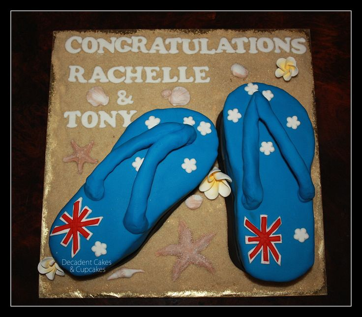 <3 Aussie Day Engagement Cake -  Chocolate Mud & Red Velvet Thongs <3 Made By Decadent Cakes & Cupcakes