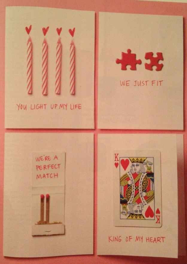 Punny Cards | 14 Best DIY Valentines Day Gifts Follow us to http://diygods.com