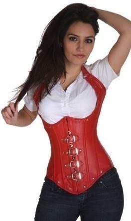 Hot sale espartilhos Sexy clubwear plus size underbust corset Faux Leather gothic corset 3 colors White Black red S-XXL LC5144