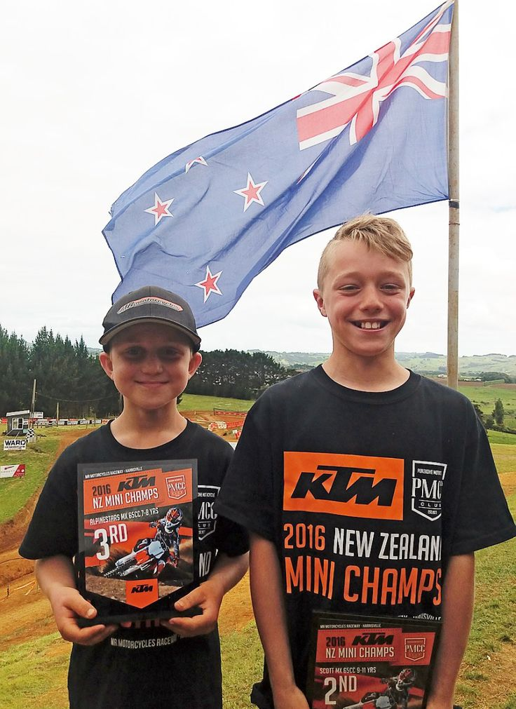 Podium placing for young Franklin motocross riders - Two local motocross riders stood out at the New Zealand Mini Motocross Championships held at the MR Motocycles Raceway in Harrisville.