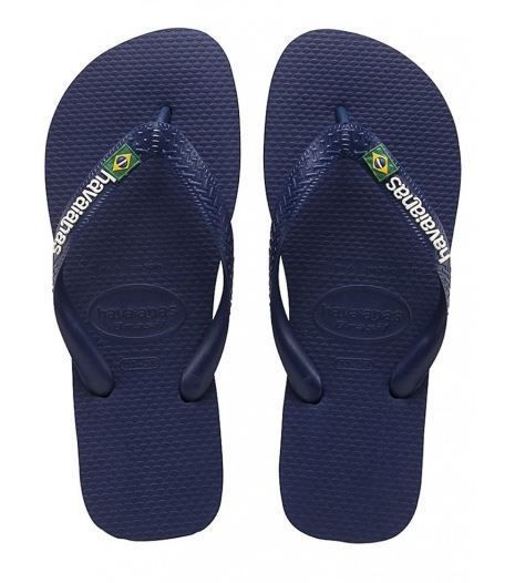 HAVAIANAS BRASIL LOGO 4110850 0555 NAVY BLUE Blu Bianco Giallo Verde Bandiera