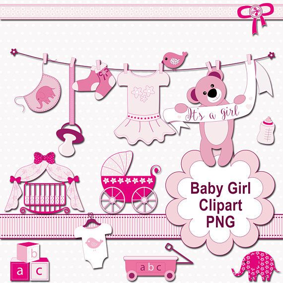 Baby Girl Clip Art Baby Shower Images Pink Clipart It's