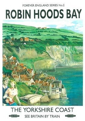 Details about 222 Vintage Railway Art Poster Robin Hood's Bay North Yorkshire…