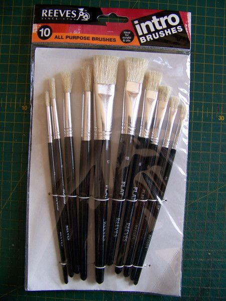 Reeves Bristle Brushes Set of 10 – A Pretty Talent