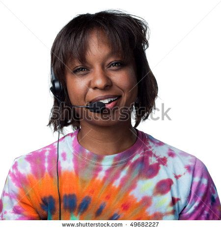 Attractive woman answering the phone