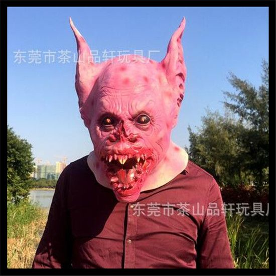 Halloween Average Cosplay Horror Zombie Vampire Batman Mask Cool Men's Rubber Costume Scary Mask For Halloween Christmas Party