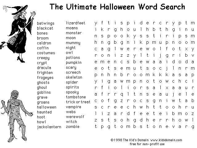 25+ best ideas about Halloween word search on Pinterest ...