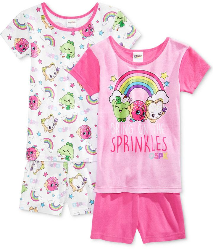 Shopkin pajama set | Matching set | 2 tops and 2 shorts | Microfashion | Bedtime | Girls | Shopkins lover