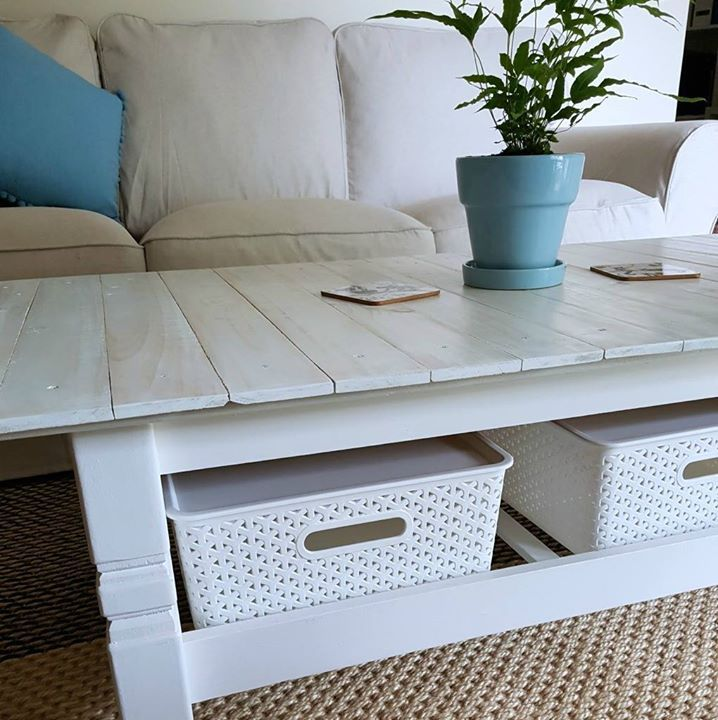 Love This Coffee Table With Storage Underneath Baskets From Kmart