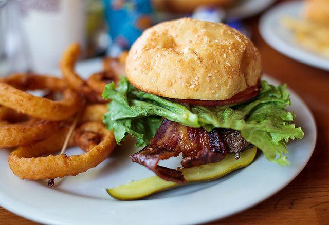 Burgers and brew hamburger by angeloangelo, via Flickr