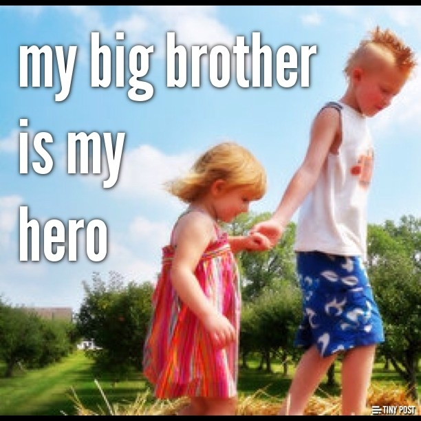 my personal hero is my brother My favorite hero is my dad he rescues me in hard situations, but instead of giving me wings, taking me to fly with him, he teaches me how to fly by my own wings without him when i fall, instead of catching me before i fall, he picks me up, brushes me off and lets me try again.