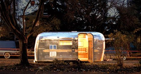 My dad used to help manufacture these. I could handle living in an air stream trailer.