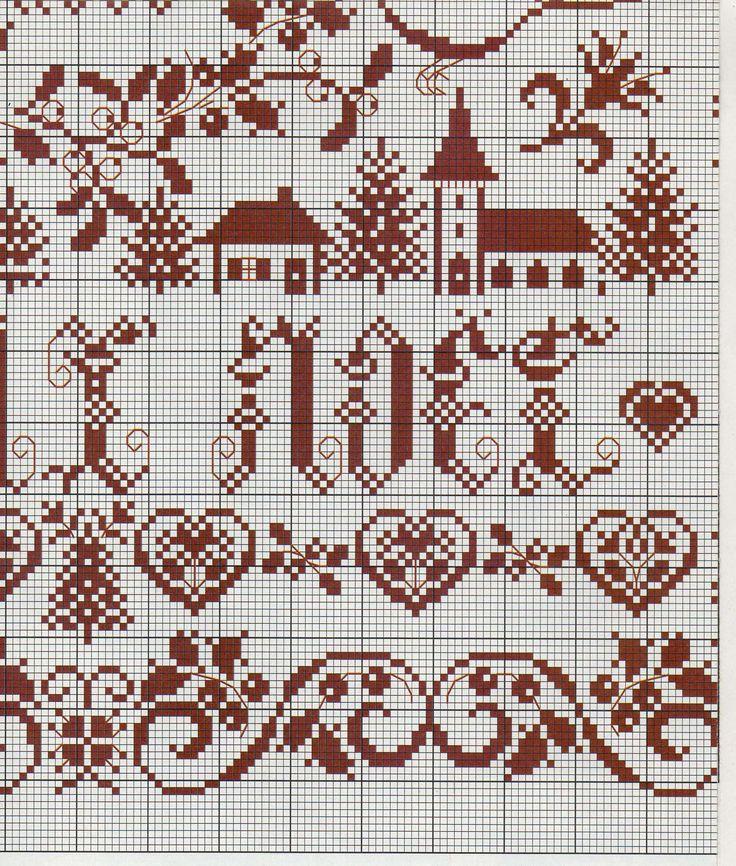 sampler di Natale da copiare (4) - magiedifilo.it punto croce uncinetto schemi gratis hobby ...