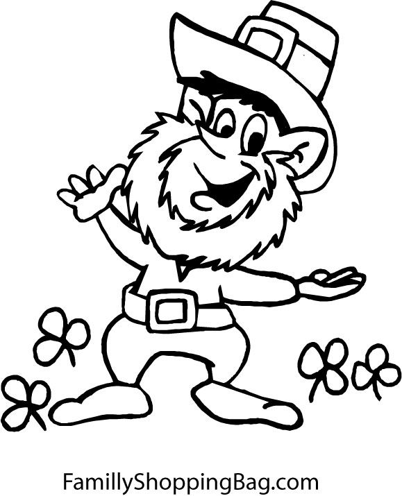 leprachaun coloring pages - photo#23