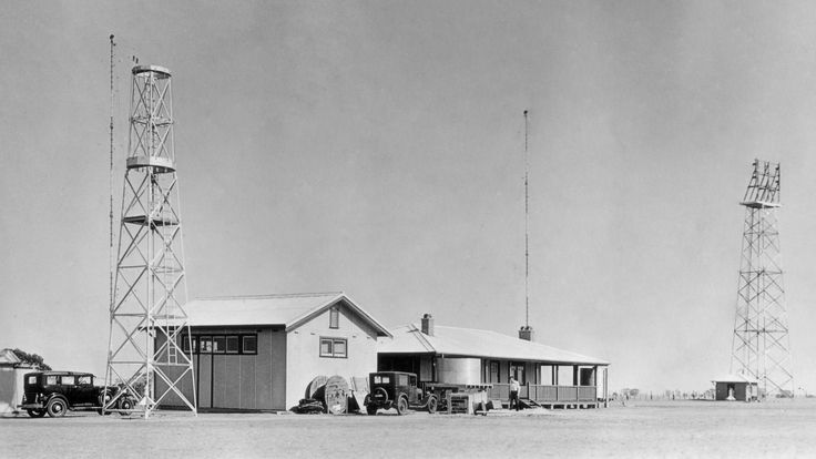 The Nhill Aeradio Station in 1939, it was a part of a vital national network established in 1938 to provide critical communications and navigation support for an increasing amount of civil aircraft. Situated at the half-way point of a direct air-route between Adelaide and Melbourne, Nhill was an ideal location for an aeradio station.