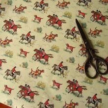 140x100 cm Paardrijden Katoenen Canvas Stof tecidos een metro tissu telas para patchwork almofadas para cama manteles para mesa(China)