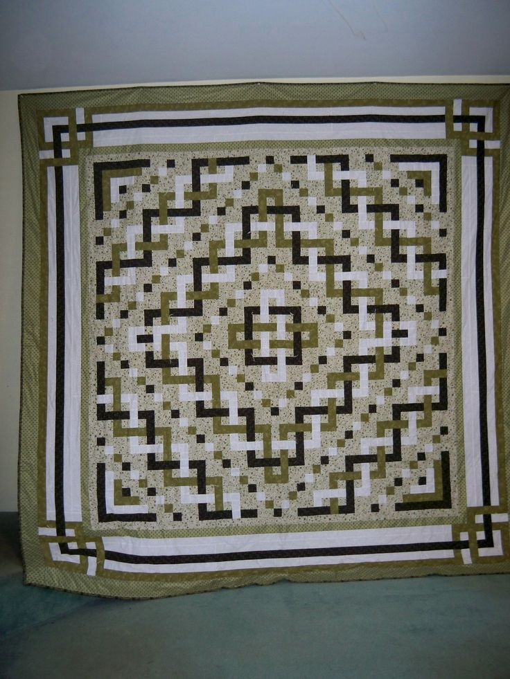 One of my faves I have set aside to make a billion years from now.  I like the pattern not the colors :): Color Quilts, Green Quilt, Celtic Knots, Quiltsquilts, Knot Quilts, Celtic Knot Quilt Pattern, Knoty Thoughts, Border, Celtic Quilt Patterns