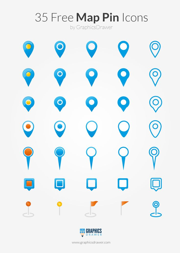 35 Free Map Pin Icons
