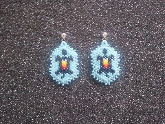 beaded-turtle-earrings | Native beadwork | Pinterest ...