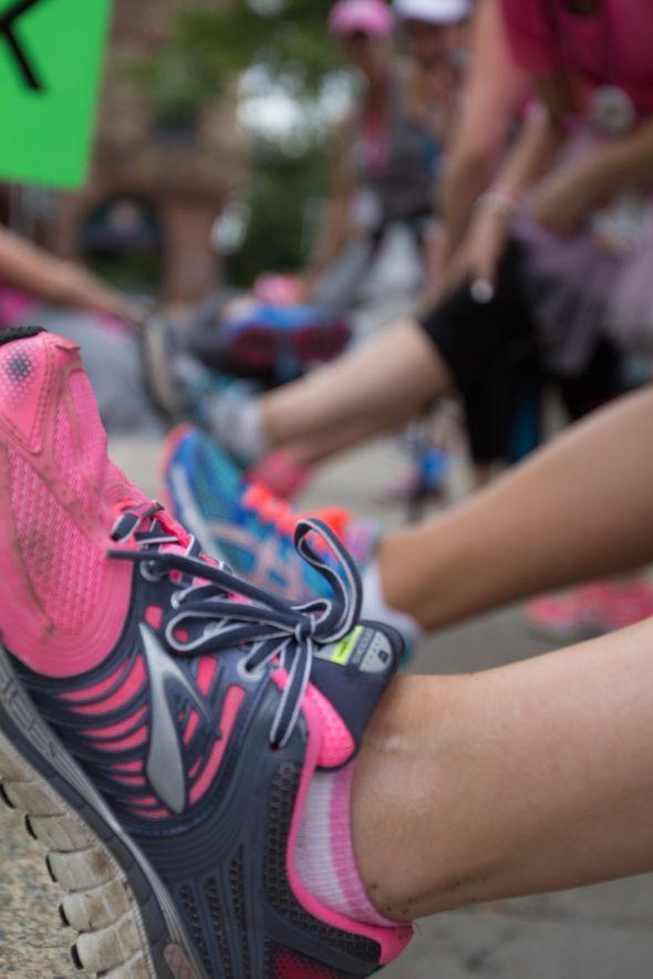 susan g. komen 3-Day breast cancer walk training stretching