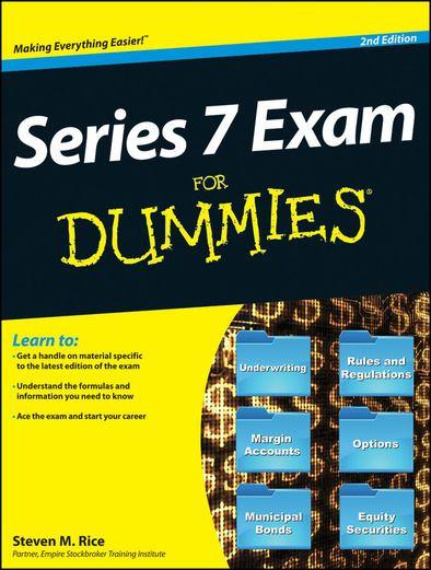Series 7 Exam For Dummies - Steven M. Rice   Study Aids...: Series 7 Exam For Dummies - Steven M. Rice   Study Aids  517501903 #StudyAids