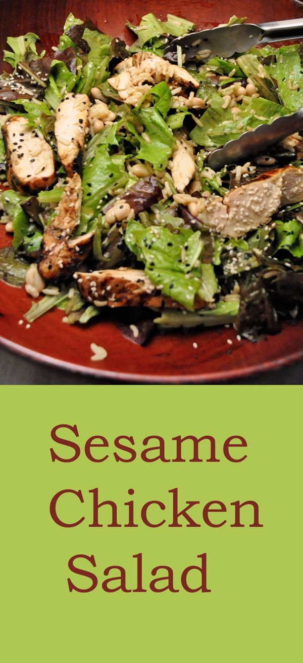 Sesame Chicken Salad La Felibree Thyme For Cooking Recipe Sesame Chicken Chicken Salad Salad Recipes