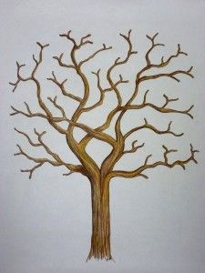 Printable tree template. I want to have these available for the families at the family reunion to make for themselves. I love that idea.