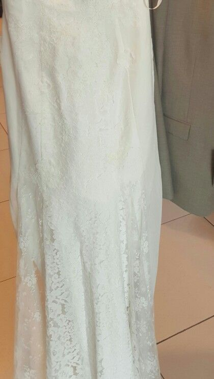 My actual wedding dress - colour soft white