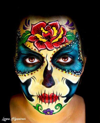 Lenore Koppelman Sugar Skull Face Paint Schmink