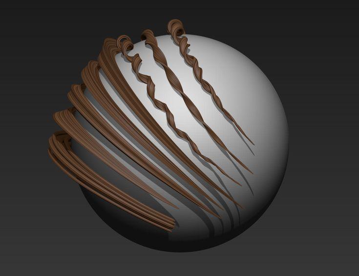 ArtStation - Zbrush - Unwrapped HairBrush MkII, Simon Chapman