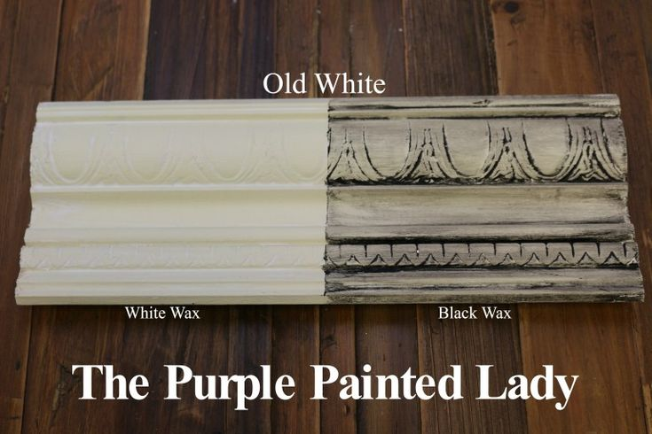 The Purple Painted Lady Old White Chalk Paint Annie Sloan Black White Wax