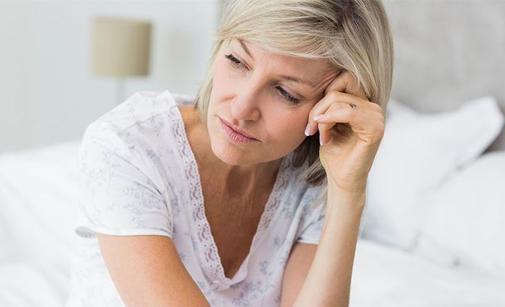 The risk of depression comes from the overlap in symptoms that menopause and depression share; it is a common for these to overlap.