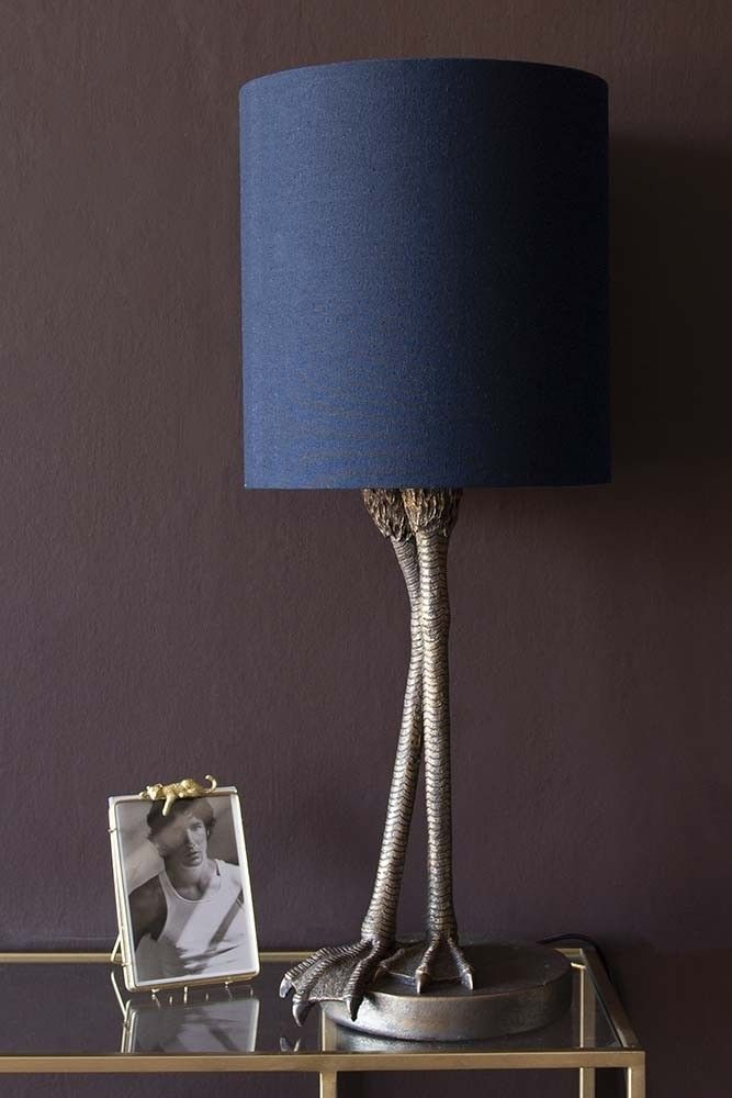 Antique Bronze Flamingo Leg Table Lamp With Navy Blue Shade From Rockett St George 80 Https Www Rockettstgeorge Co Uk Ligh Lamp Table Lamp Navy Lamp Shade
