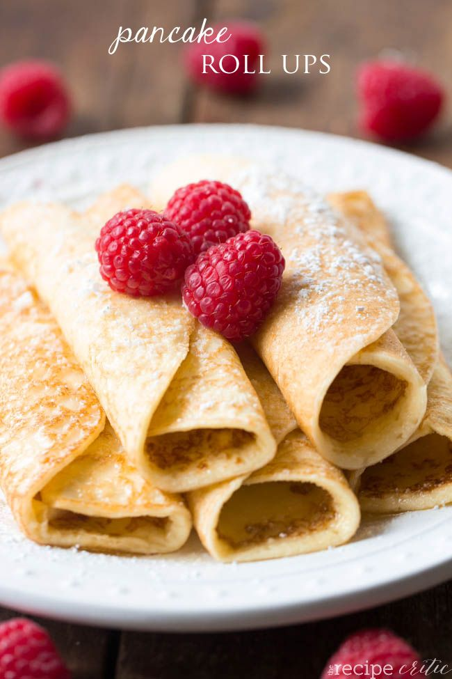 Pancake Roll Ups at http://therecipecritic.com  One of the best breakfasts that you will make!  A combination between a crepe and a pancake and the whole family will love them!